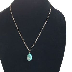 Kenneth Cole Turquoise pendant necklace